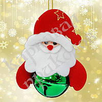 Подвеска бубенчик Дед Мороз (зеленый)