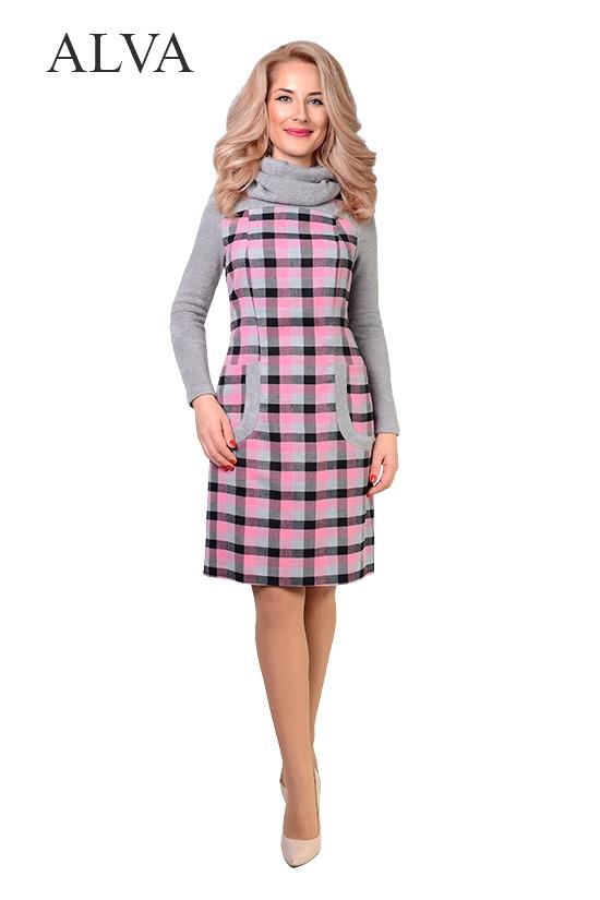 2410935274f Платье женское из шерсти в клетку - Интернет магазин одежды Жасмин. в  Хмельницком