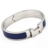 Браслет-кольцо Hermes 0329 из ювелирной стали со вставкой