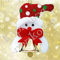 Подвеска колокольчик Снеговик