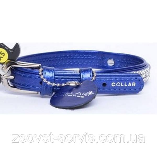 Ошейник для собак малых пород COLLAR brilliance без украшений, ширина 9мм, длина 18-21см