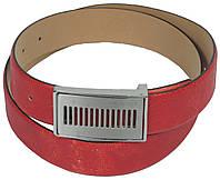 Женский ремень Vanzetti, Германия, 100009 кожаный, красный, 3,3х107 см