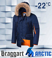 Braggart 4137   Мужская зимняя парка темно-синяя