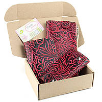 Подарочный набор №17 (3 цвета): Кошелек + обложка на паспорт + ключница Амелия