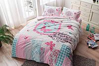 Набор зимнего постельного белья Butterfly (фланель, евро-размер)
