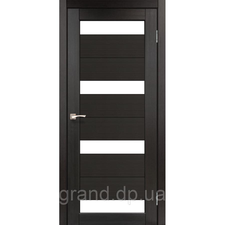 Двери межкомнатные  Корфад PORTO Модель: PR-06 венге с матовым стеклом