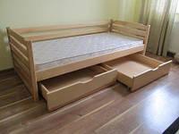 Кровать детская деревянная Котигорошко из натурального Бука