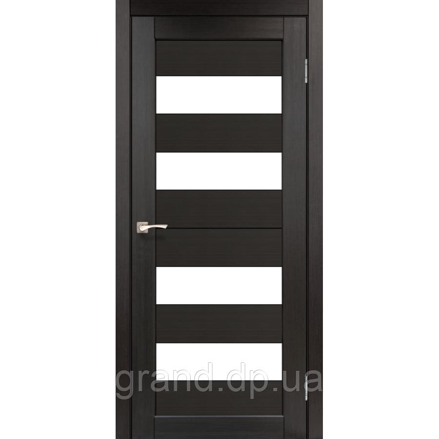 Двери межкомнатные  Корфад PORTO Модель: PR-07 венге с матовым стеклом