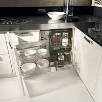 Выдвижной угловой механизм для кухни (модуль со створкой 450 мм)