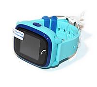 """Детские часы DF25 (Q100aqua) с GPS Blue, GPS трекер, сенсорный экран 1,22"""", GPS/GSM/GPRS, аккумулятор 400 mAh, влагозащита"""