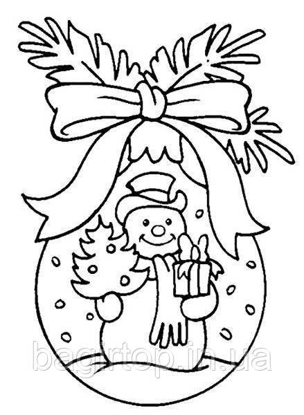 Новогодняя виниловая наклейка - снеговик