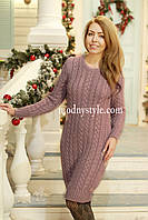 Платье женское вязаное теплое