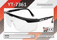 Очки защитные открытые,  YATO  YT-7361
