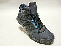 Зимние мужские кожаные ботинки Restime стиль adidas