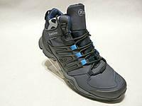 Зимние мужские кожаные ботинки Restime стиль adidas, фото 1