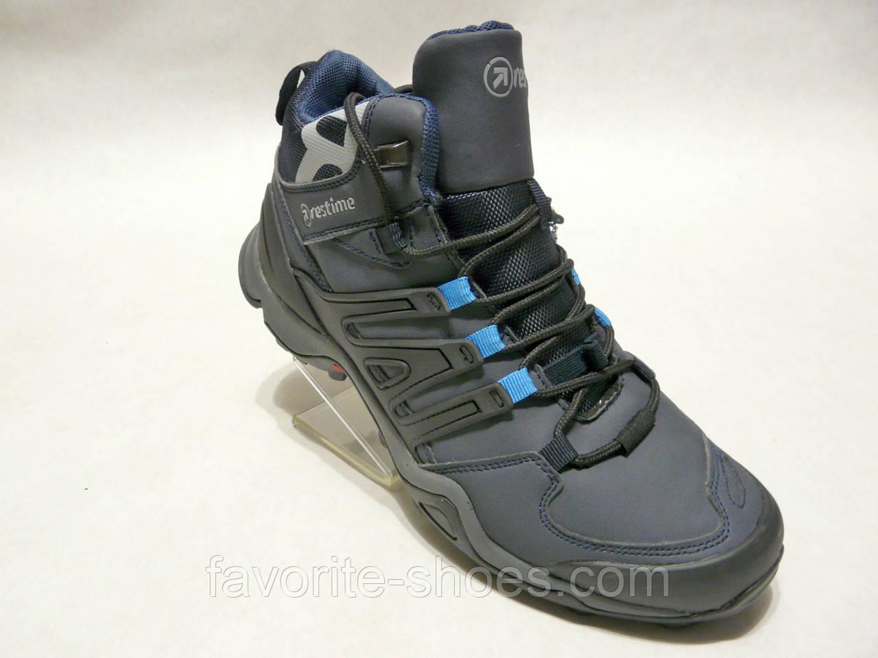 Зимние мужские кожаные ботинки Restime стиль adidas - Интернет - магазин