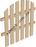 Забор деревянный высота 1 м