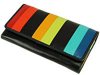 Женский кожаный кошелек Visconti STR-4 c RFID Kos black multi