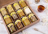 Мёд с орехами, (230 г - мед, 40 г - орехи)