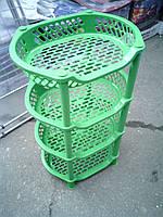 Этажерка пластиковая для ванной и кухни (Зелёная), фото 1