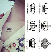 Татуировка- наклейка (корона)