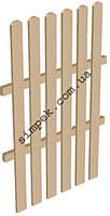 Деревянный забор высота 1,5 м