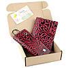 Подарочный набор №18 (3 цвета): Обложка на паспорт + ключница Амелия бордовый