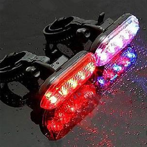 Велосипед Велоспорт 5 LED Предупреждающий задний фонарь заднего хода Лампа , фото 2