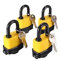 4шт 40мм ключом так водонепроницаемый ворота двери навесной замок с ключом 8 же