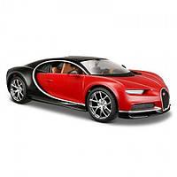 MAISTO Автомодель (1:24) Bugatti Chiron чёрно-красный металлик