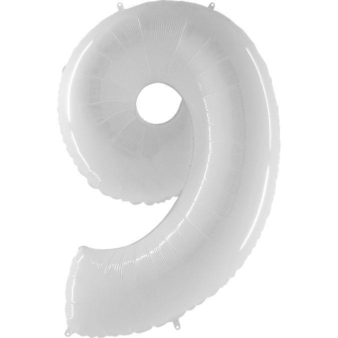 """Шар цифра  """"9"""" 100 см (гелий)"""