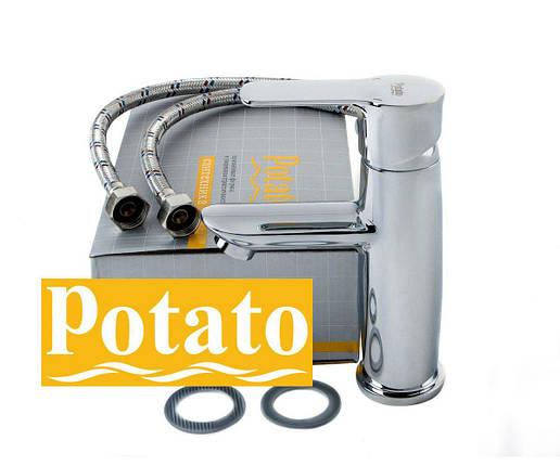 Смеситель для умывальника POTATO P1033, фото 2