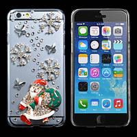 Рождественский подарок Санта-Клаус ручной работы bling случае покрытия для iPhone 6
