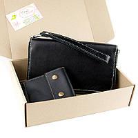 Подарочный набор №19 (черный): Клатч + зажим Crez-2