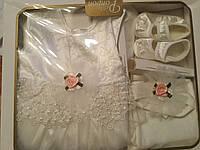 Детский  крестильный подарочный  набор для девочек в коробке
