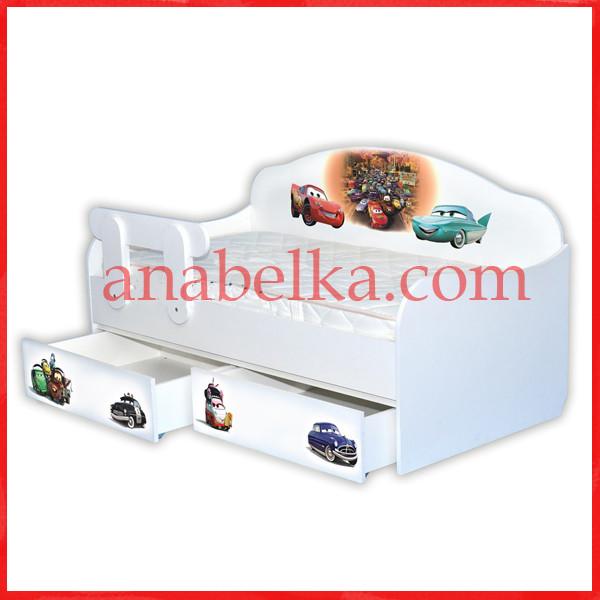 """Кроватка диванчик """"Тачки - 3"""" (Mebelkon)"""