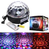 6 Вт для RGB LED МР3 кристалла магический шар световой эффект Лампа сцене клуба партии