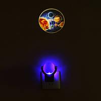 Оптически-контролируемый проекции 360 градусов вращения малый свет ночи