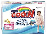 Трусики-подгузники GOO. N для девочек 13-25 кг (размер BigBig (XXL), 28 шт) Goo. N (753717)