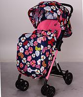 Детская коляска прогулочная AMORE M 3405-8-2 сине-розовая