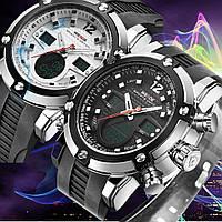 Часы наручные Weide WH5205 мужские, японский механизм, черный белый циферблаты