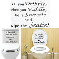 ПВХ съемный стикер для унитаза ванная комната отделка стен