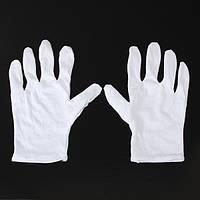 1 пара белые хлопчатобумажные перчатки анти-статическое перчатки защитные для BGA работа