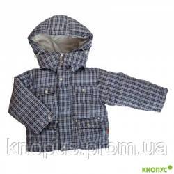 Непромокаемая пуховая куртка  для маленького мальчика, серая, размер 74