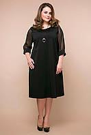 Черное коктейльное платье Андре