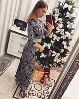 Красивое длинное платье в пол с узором