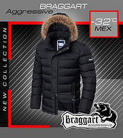 Короткая зимняя мужская куртка