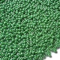 Бисер Preciosa 58250  зеленый перламутровый