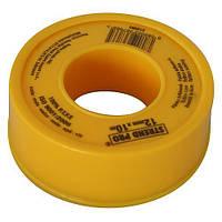 ФУМ стрічка тефлонова сантехнічна Strend Pro 12 мм.*10 м., TT-067, PTFE.100%
