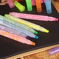 1шт творческих канцелярских школы офис красочные краски звезда типа люминесцентные ручка Highlighter маркер акварели